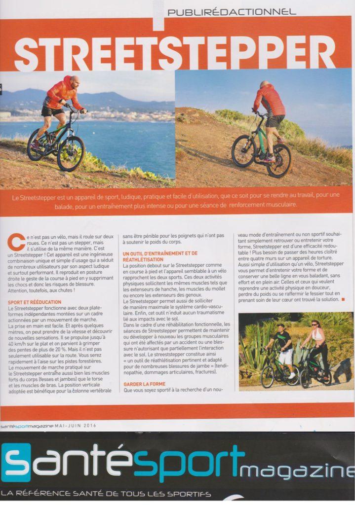 Le Streetstepper est un appareil de sport, ludique et facile d'utilisation! Reportage santésportmagazine