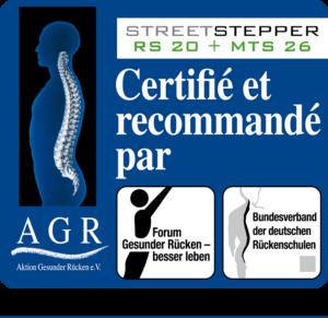 Streetstepper a reçu le Label de qualité de l´AGR.